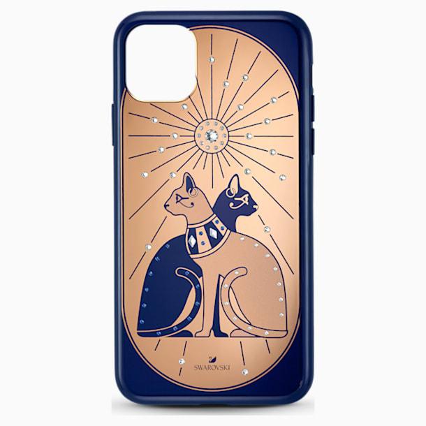 Coque rigide pour smartphone avec cadre amortisseur Theatrical Cat, iPhone® 11 Pro Max - Swarovski, 5566446