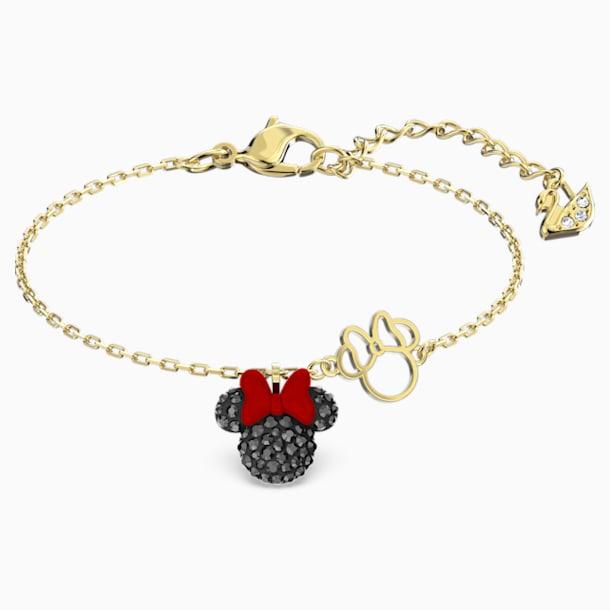 Minnie Bileklik, Siyah, Altın rengi kaplama - Swarovski, 5566690