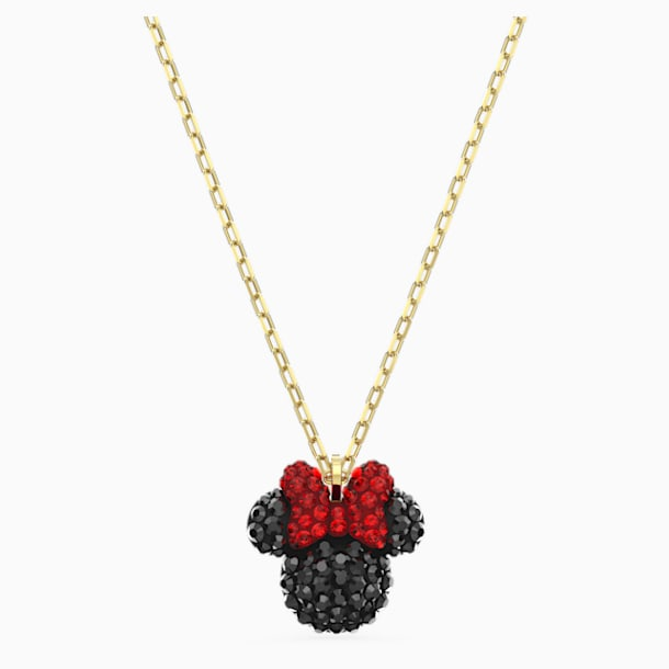 Pendente Minnie, nero, placcato color oro - Swarovski, 5566693