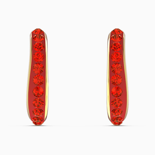 Pendientes de aro The Elements, rojo, baño tono oro - Swarovski, 5567358