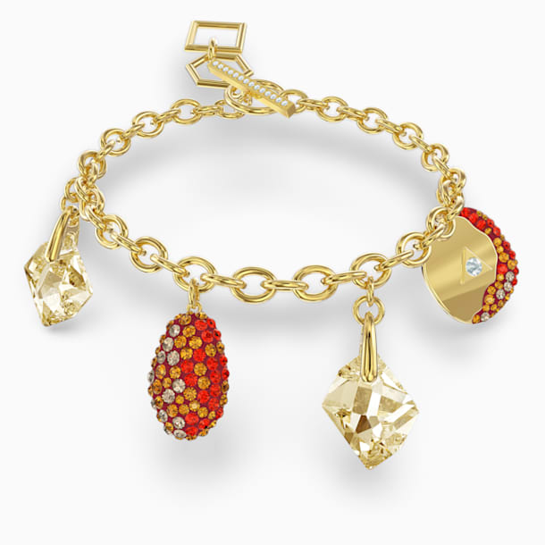 Pulsera The Elements, rojo, baño tono oro - Swarovski, 5567361