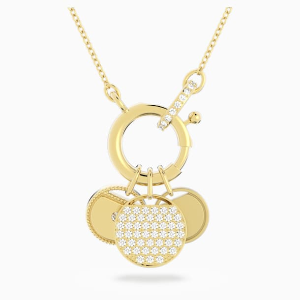 Ginger Charm Necklace, White, Gold-tone plated - Swarovski, 5567530