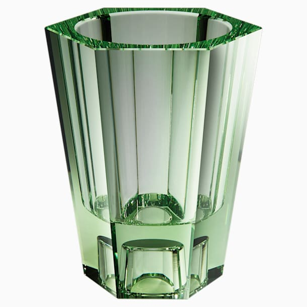 Lumen Reversible Vase, Large, Green - Swarovski, 5567987