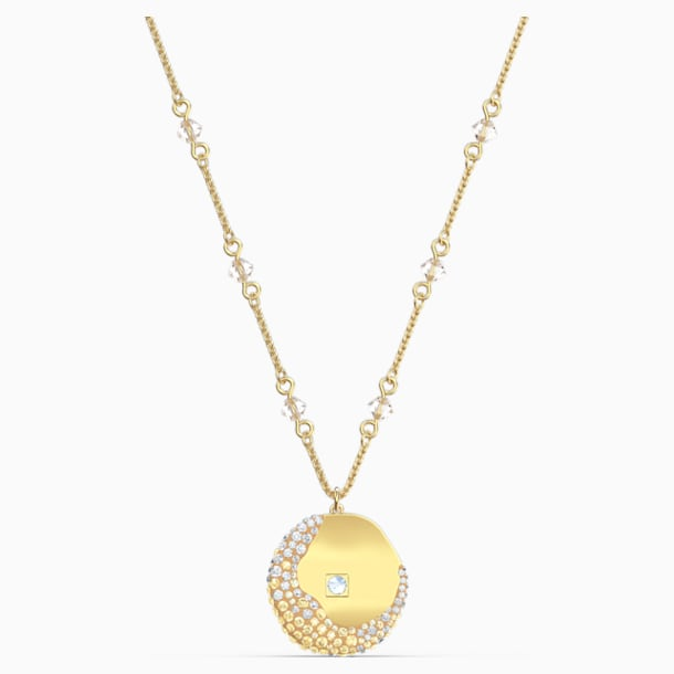 The Elements Pendant, Yellow, Gold-tone plated - Swarovski, 5568266