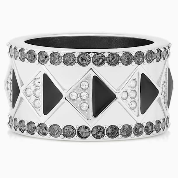 Anillo Karl Lagerfeld Geometric, gris, baño de paladio - Swarovski, 5568609