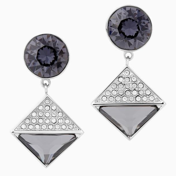 Karl Lagerfeld Geometric Ohrringe, grau, palladiniert - Swarovski, 5568613