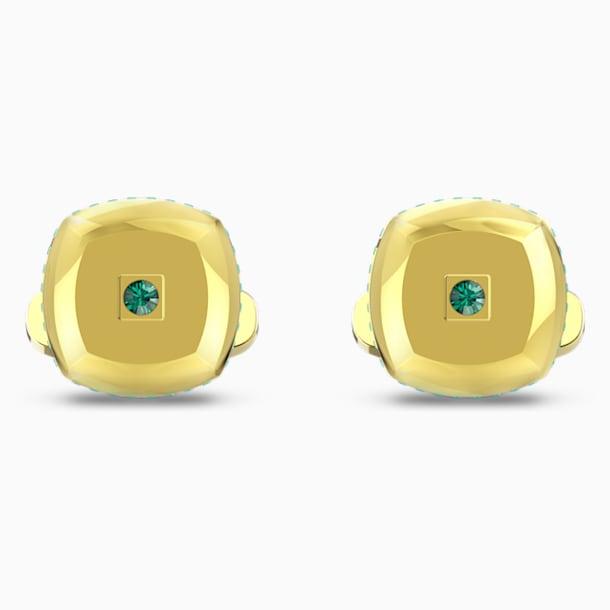 Theo Earth Element Запонки, Зеленый Кристалл, Покрытие оттенка золота - Swarovski, 5569062