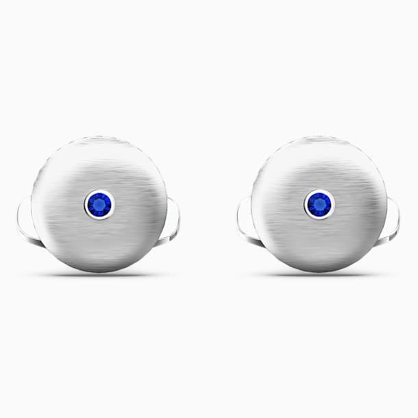 Theo Water Element Kol Düğmesi, Mavi, Rodyum kaplama - Swarovski, 5569063