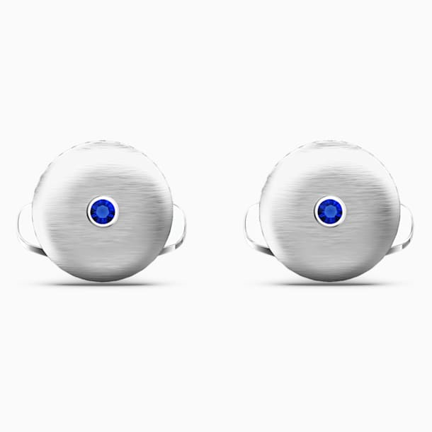 Theo Water Element Cufflinks, Blue, Rhodium Plated - Swarovski, 5569063