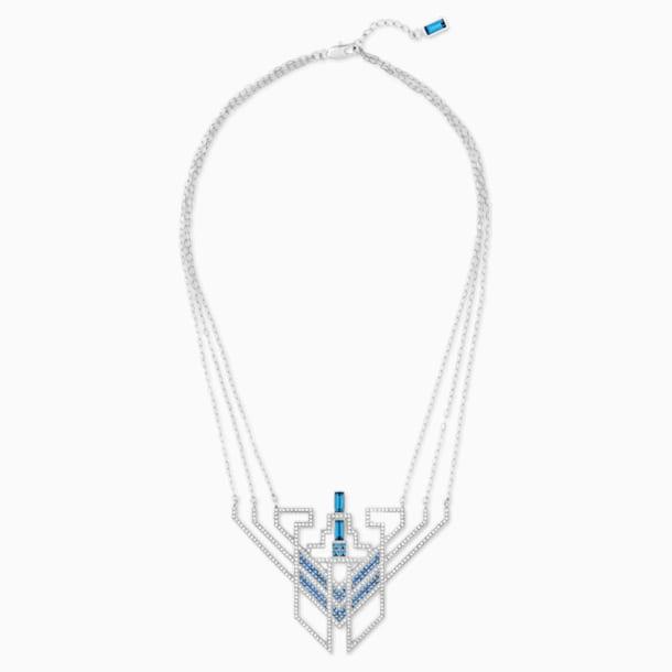 Karl Lagerfeld Statement Necklace, Blue, Palladium plated - Swarovski, 5569074