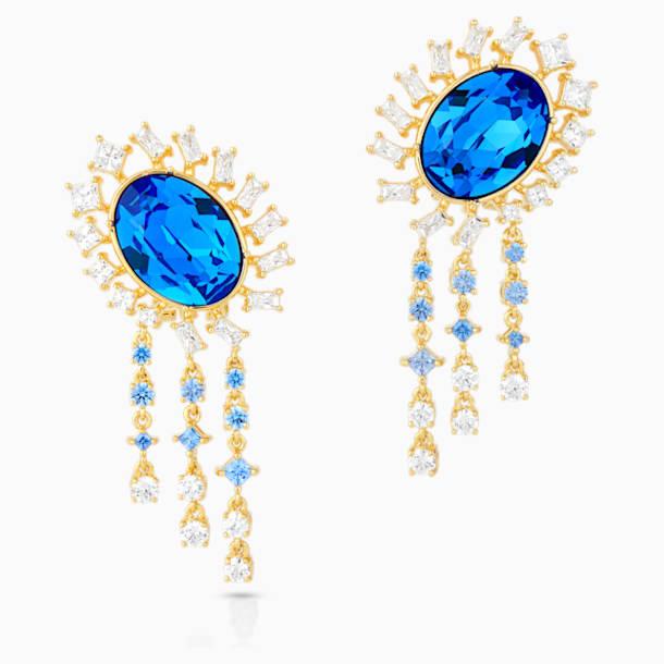 Penélope Cruz Icons of Film Pierced Earrings, Blue, Gold-tone plated - Swarovski, 5569083
