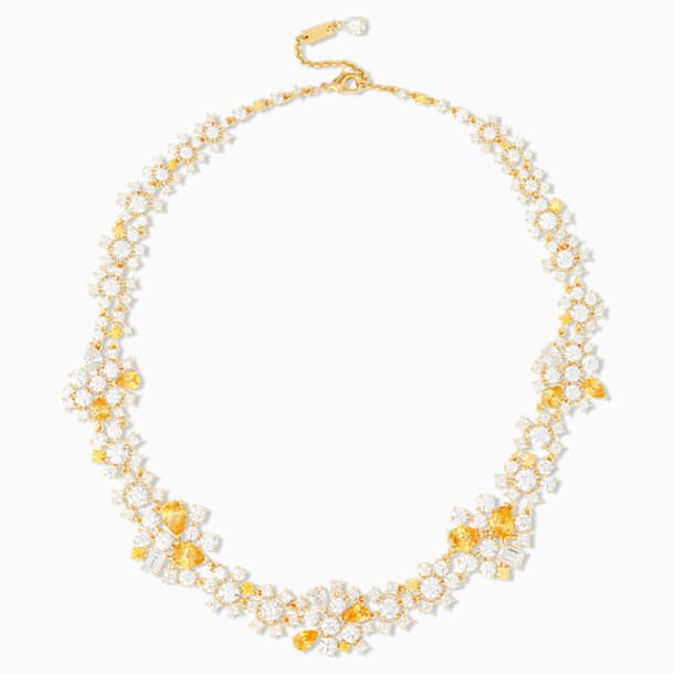 Penélope Cruz Icons of Film Choker, Yellow, Gold-tone plated - Swarovski, 5569088