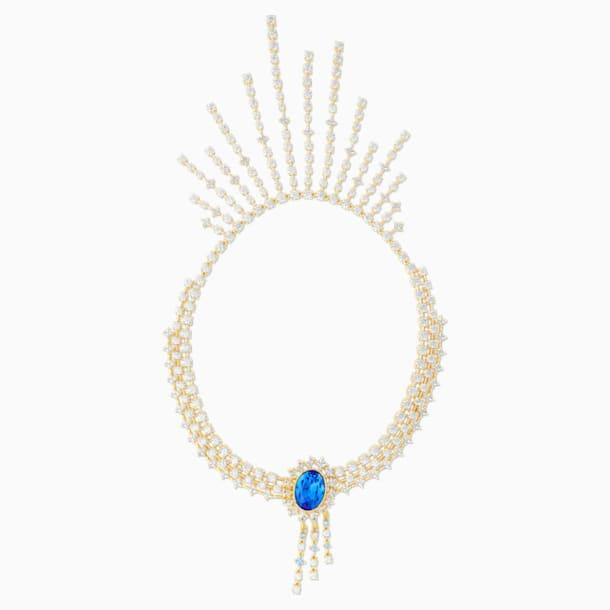 Penélope Cruz Icons of Film Necklace, Blue, Gold-tone plated - Swarovski, 5569101