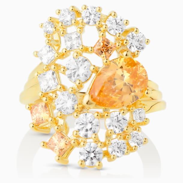 Penélope Cruz Icons of Film Коктейльное кольцо, Желтый Кристалл, Покрытие оттенка золота - Swarovski, 5569121