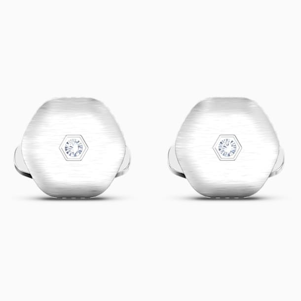 Theo Air Element Cufflinks, White, Rhodium plated - Swarovski, 5569154