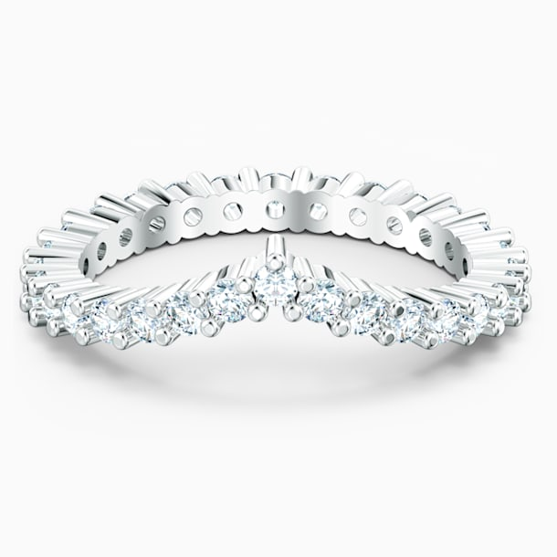 Vittore V Ring, White, Rhodium plated - Swarovski, 5569171
