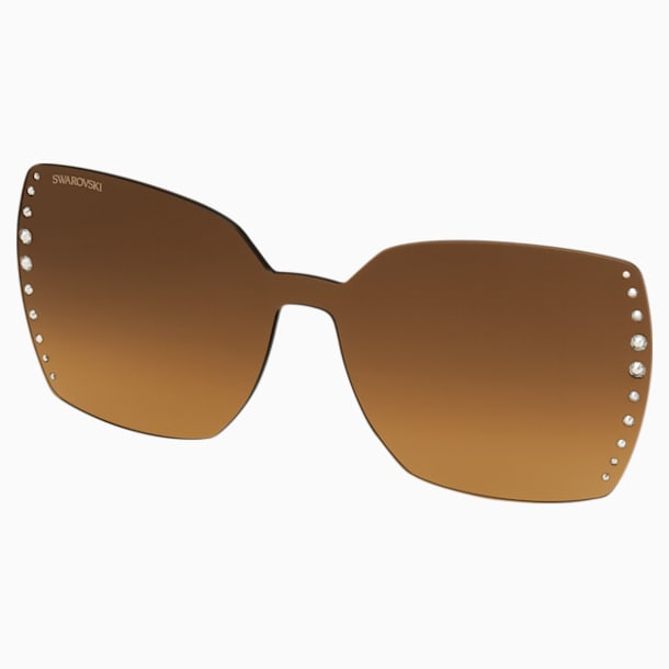 Nakładki na okulary Swarovski, SK5328-CL 32F, brązowe - Swarovski, 5569401