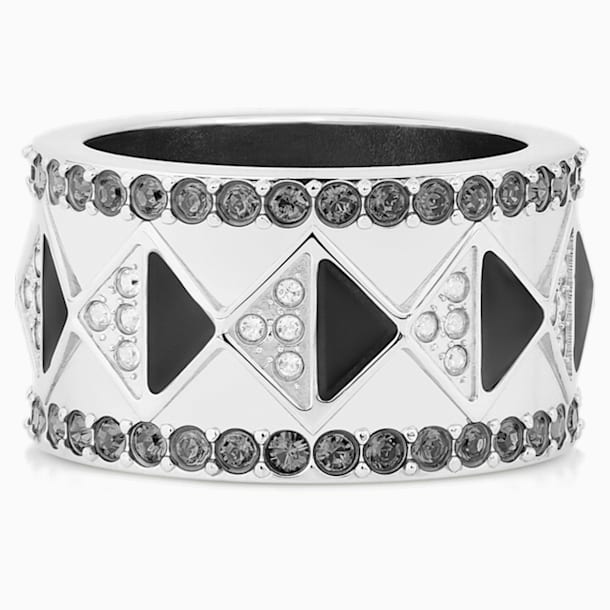 Bague Karl Lagerfeld Geometric, gris, métal plaqué palladium - Swarovski, 5569512