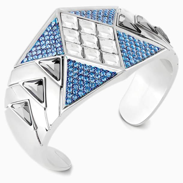 Manchette Karl Lagerfeld Statement, bleu, métal plaqué palladium - Swarovski, 5569554