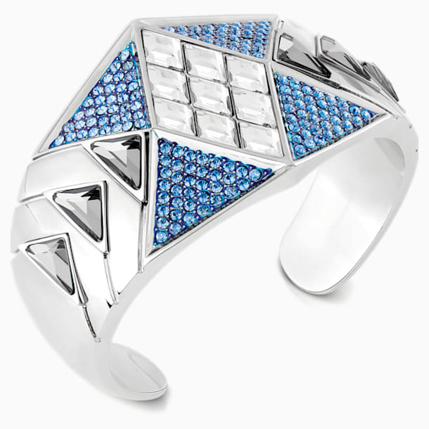 Brazalete Karl Lagerfeld Statement, azul, baño de paladio - Swarovski, 5569554
