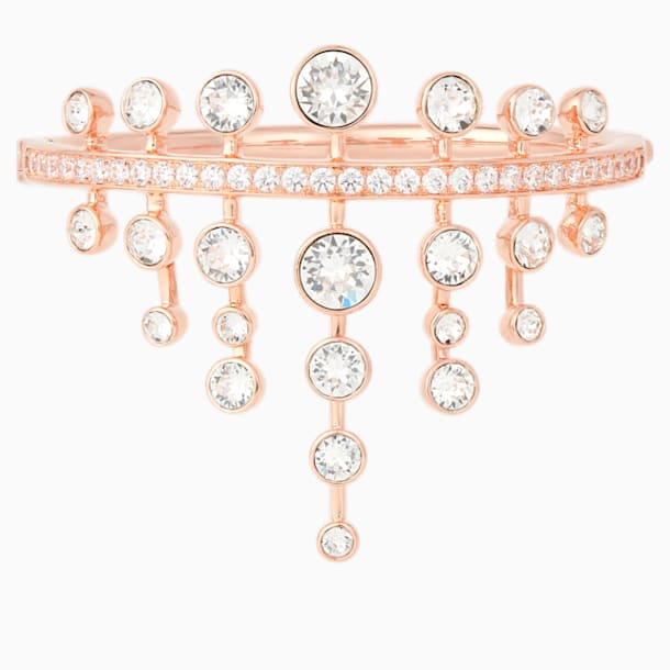 Theater Bangle, White, Rose-gold tone plated - Swarovski, 5569574