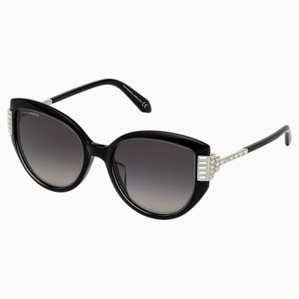 Fluid Cat Eye Sunglasses, Black - Swarovski, 5569895