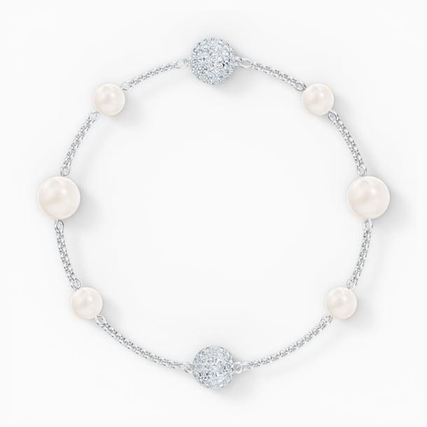 Strand Swarovski Remix Collection Pearl, blanc, métal rhodié - Swarovski, 5570815