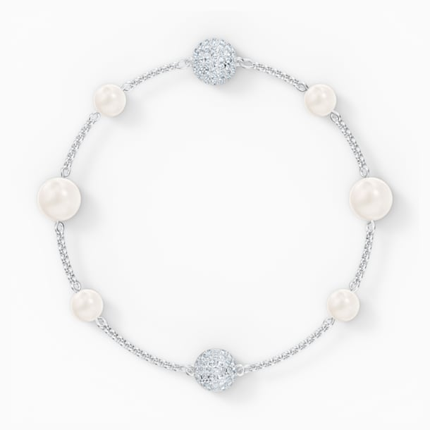 Strand Swarovski Remix Collection Pearl, blanco, baño de rodio - Swarovski, 5570816