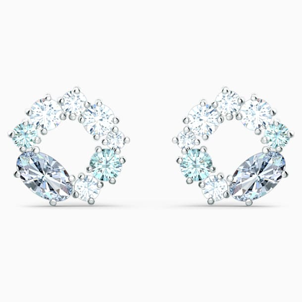 Orecchini Stud Attract Circle, placcato rodio - Swarovski, 5570943
