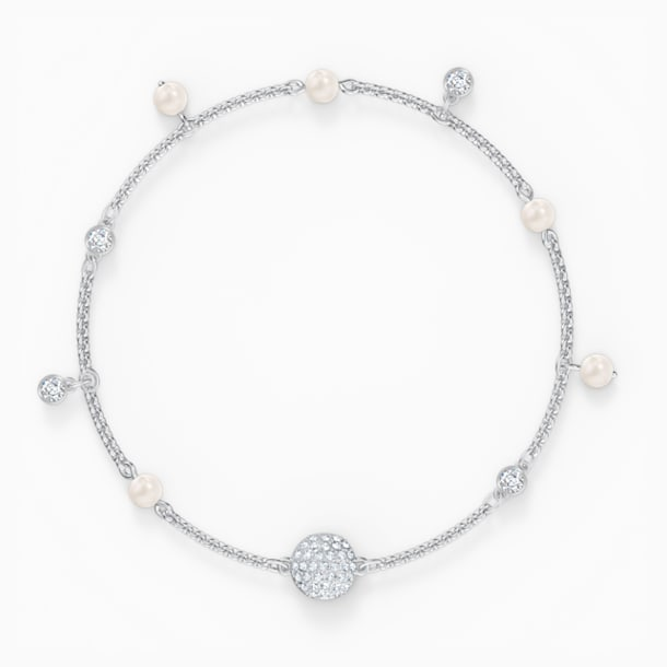 Swarovski Remix Collection Delicate Pearl Strand, 白色, 镀铑 - Swarovski, 5572076