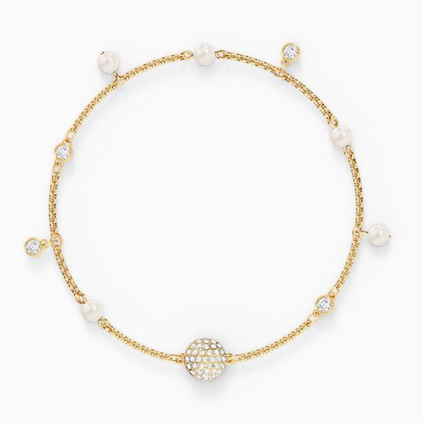Strand Swarovski Remix Collection Delicate Pearl, blanco, baño tono oro - Swarovski, 5572077
