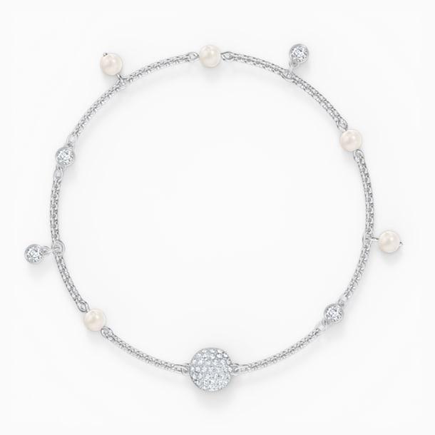Řetízek Delicate Pearl z kolekce Swarovski Remix, bílý, rhodiovaný - Swarovski, 5572078