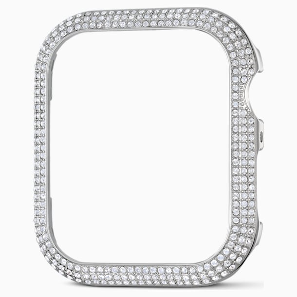 44mm Sparkling Case compatible with Apple Watch®, Silver tone - Swarovski, 5572426