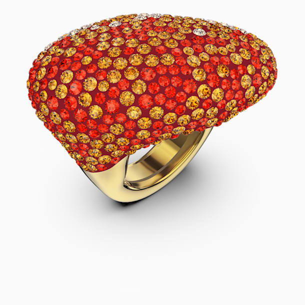 Pierścionek The Elements, pomarańczowy, powłoka w odcieniu złota - Swarovski, 5572450