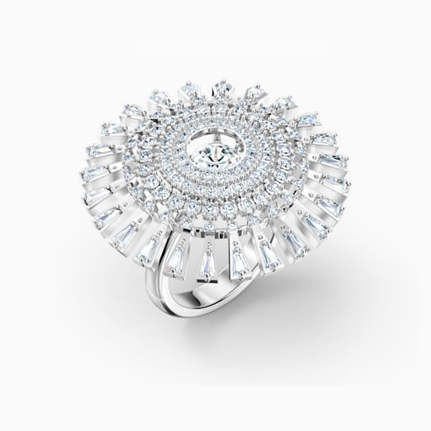 Bague Swarovski Sparkling Dance Dial Up, blanc, métal rhodié - Swarovski, 5572512