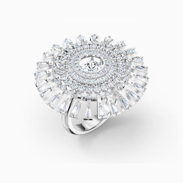 Δαχτυλίδι Swarovski Sparkling Dance Dial Up, λευκό, επιροδιωμένο - Swarovski, 5572514
