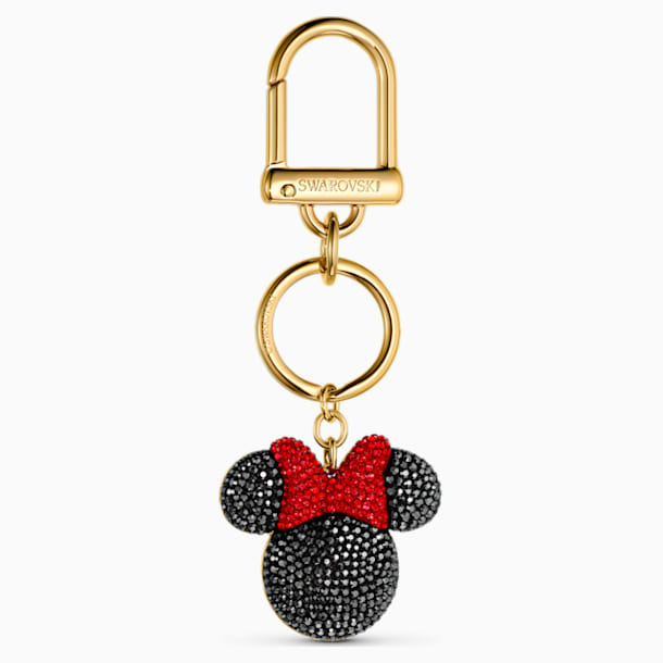 스와로브스키 키링 Swarovski Minnie Bag Charm, Black, Gold-tone plated