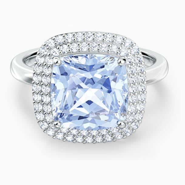 Angelic gyűrű, kék, ródium bevonattal - Swarovski, 5572634