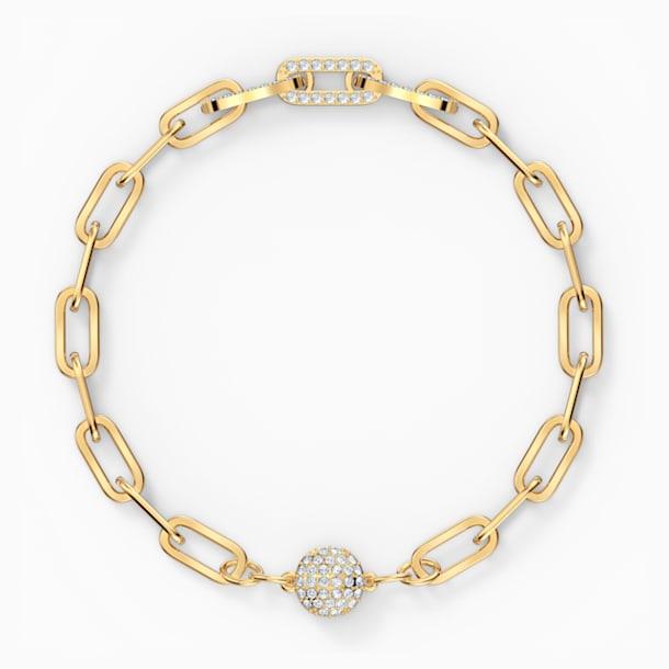 Bransoletka łańcuszkowa The Elements, biała, w odcieniu złota - Swarovski, 5572639