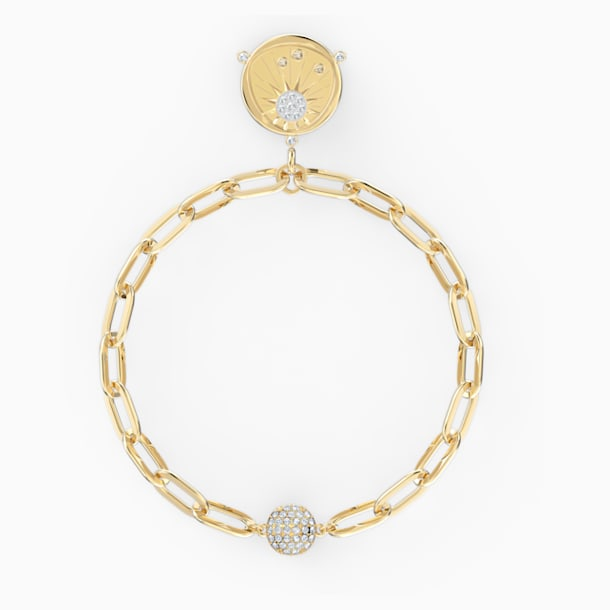 Pulsera The Elements Sun, blanco, baño tono oro - Swarovski, 5572641