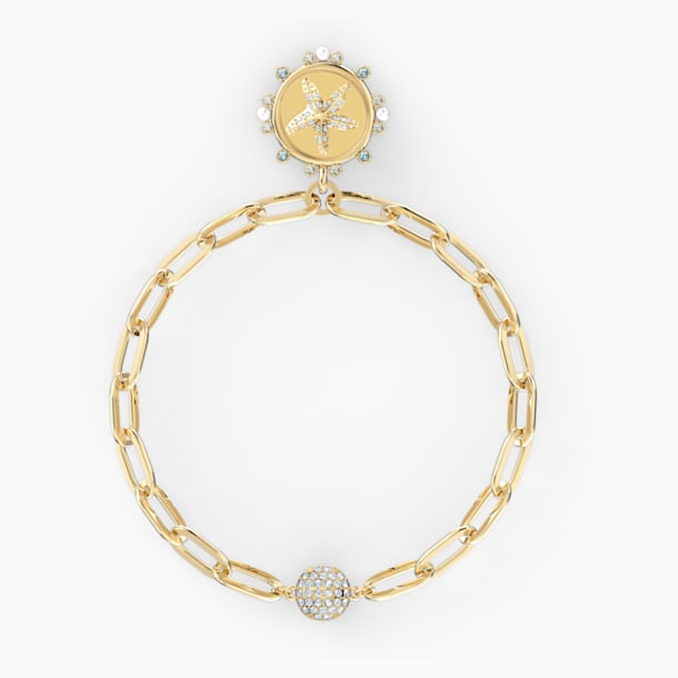 Pulsera The Elements Star, blanco, baño tono oro - Swarovski, 5572643