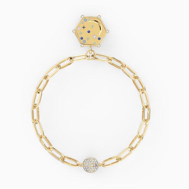 The Elements Moon Bracelet, Blue, Gold-tone plated - Swarovski, 5572650