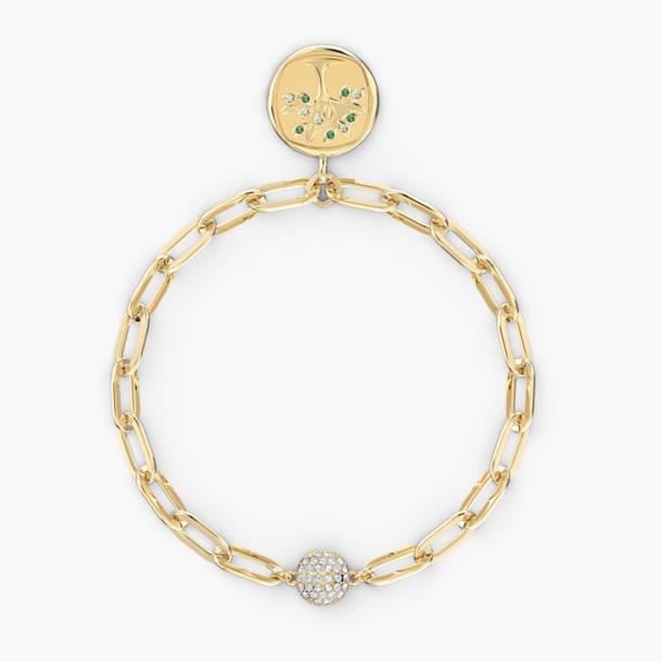 The Elements Tree Bracelet, Green, Gold-tone plated - Swarovski, 5572653