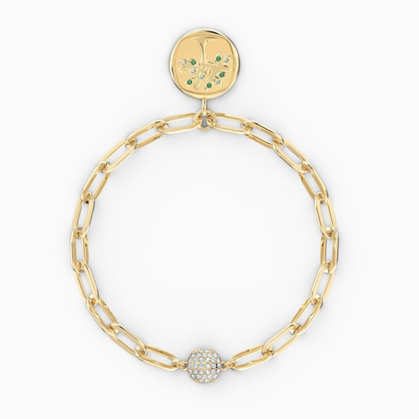 The Elements Tree Bracelet, Green, Gold-tone plated - Swarovski, 5572653