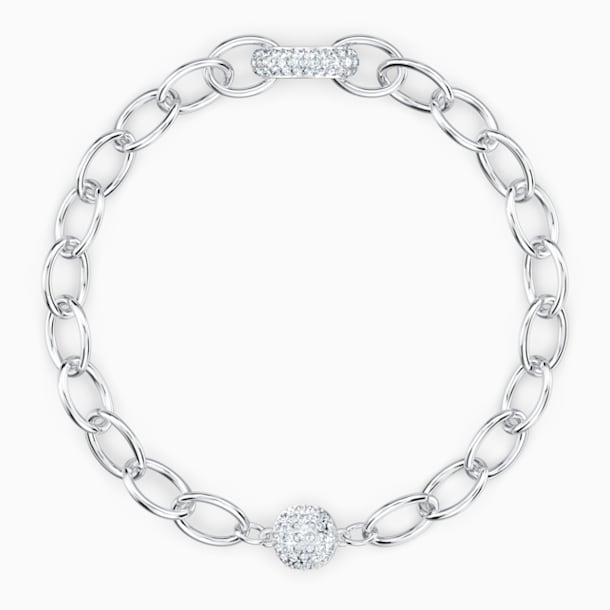 Pulsera The Elements Chain, blanco, baño de rodio - Swarovski, 5572655