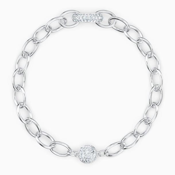 The Elements Chain Bileklik, Beyaz, Rodyum kaplama - Swarovski, 5572655