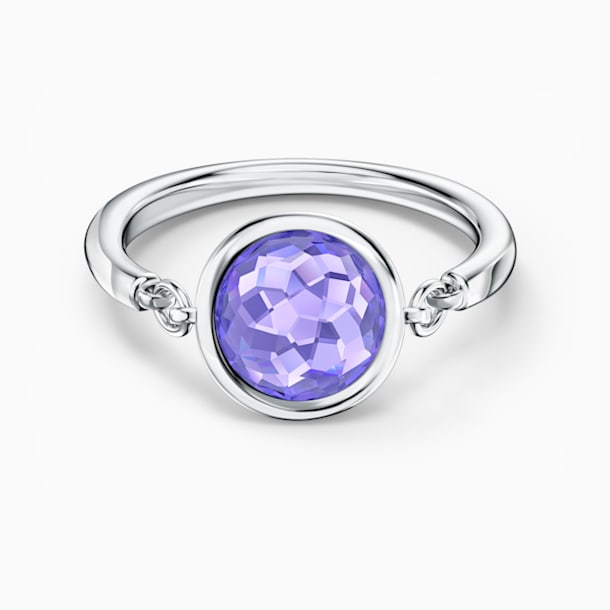 Tahlia 戒指, 紫色, 镀铑 - Swarovski, 5572703