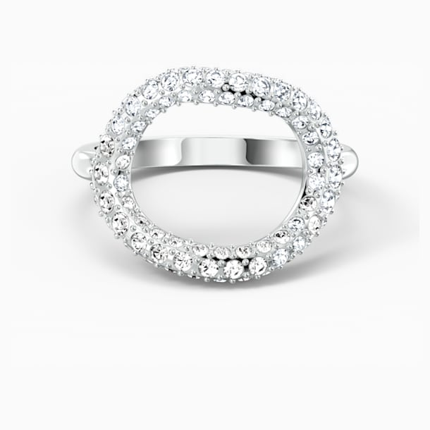 The Elements Air Ring, White, Rhodium plated - Swarovski, 5572877