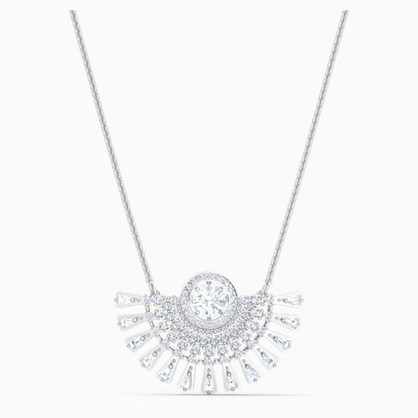 Collier Swarovski Sparkling Dance Dial Up, medium, blanc, métal rhodié - Swarovski, 5573694