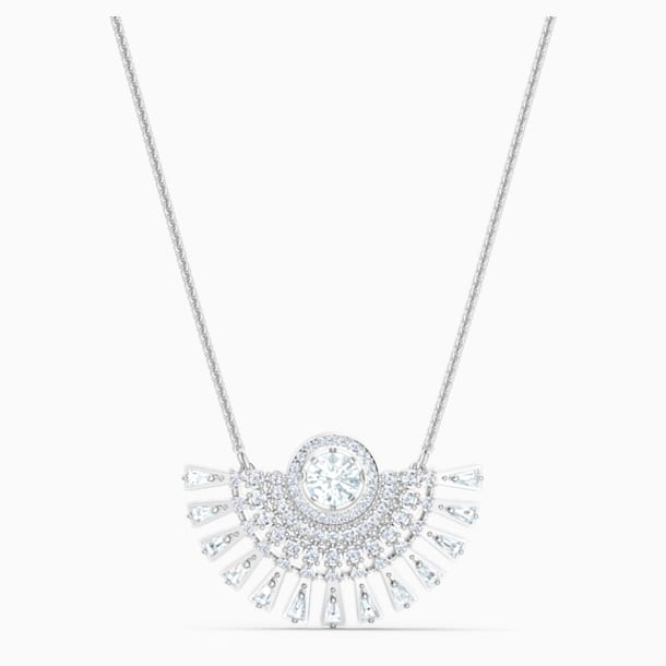 Swarovski Sparkling Dance-dial up-ketting, Medium, Wit, Rodium-verguld - Swarovski, 5573694